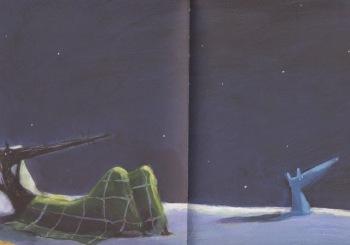 """Illustrazione tratta da """"Lupo&Lupetto. La fogliolina che non cadeva mai"""""""