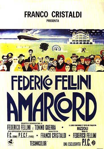 Locandina del film Amarcord di Fellini